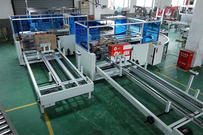 Carton Erector Sealing Conveyor Packaging line
