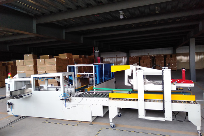 Disposable lunch box packaging line