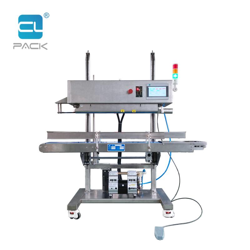 PLC Vertical Continuous Vacuum Sealing Machine FRK-1420LZK/SC